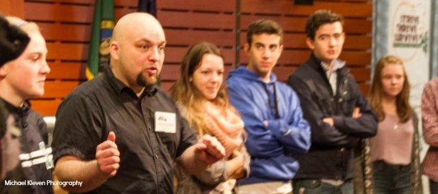 Adam Fletcher speaking by Michael Kleven 8
