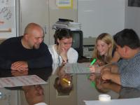 This is Adam Fletcher with student partners at the Washington State Office of Superintendent of Public Instruction in 2002.