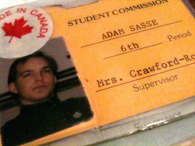 This is Adam Fletcher Sasse in 1992 at Omaha North High School.
