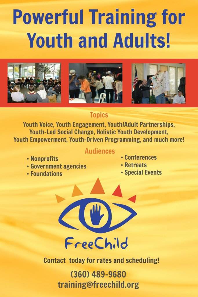 The Freechild Project Training flyer