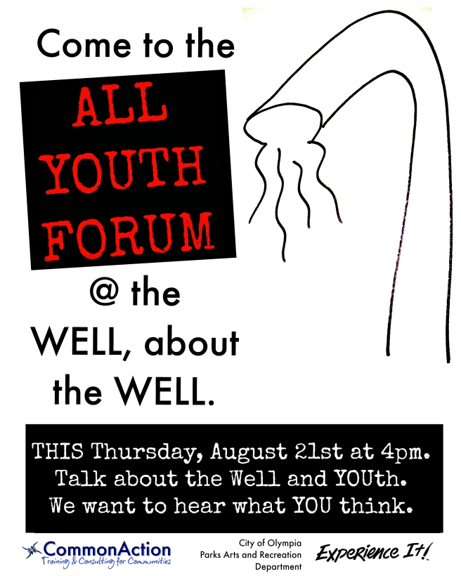 Olympia All Youth Forum flyer