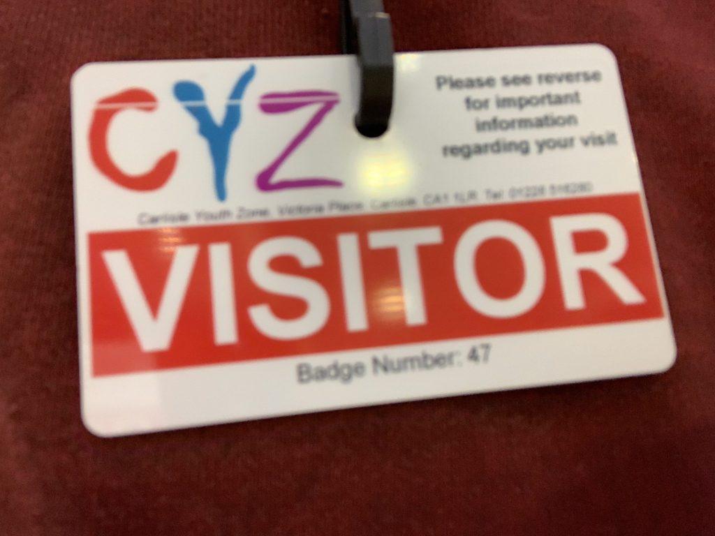 Carlisle Youth Zone badge