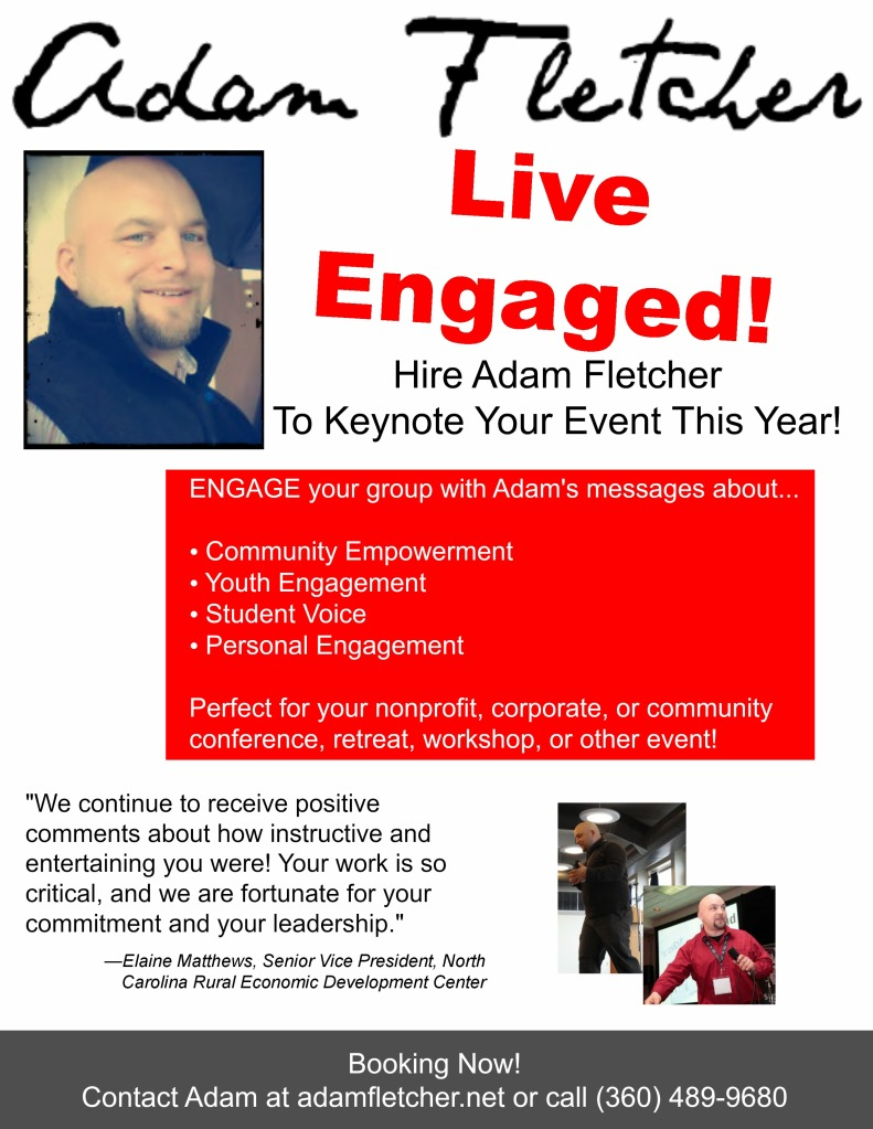 Adam Fletcher speaker flyer