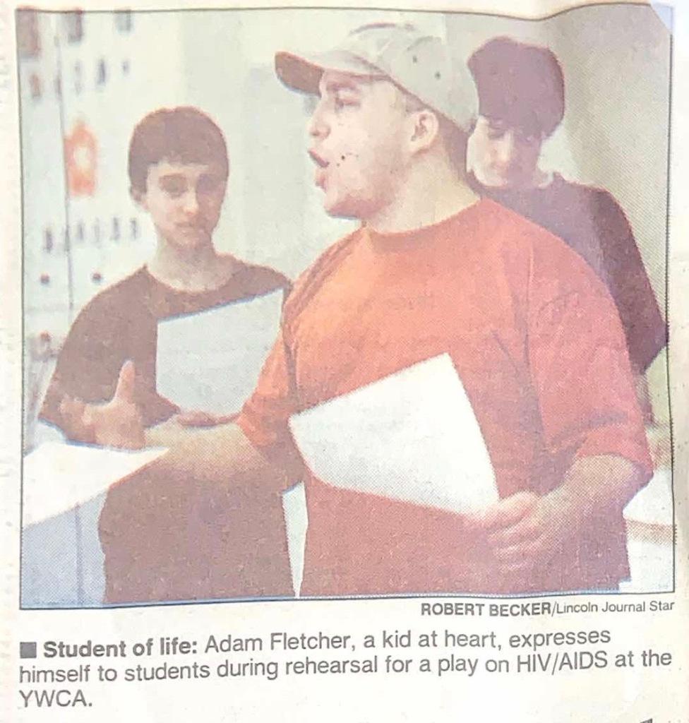This is Adam Fletcher in Lincoln, Nebraska, in 1998.