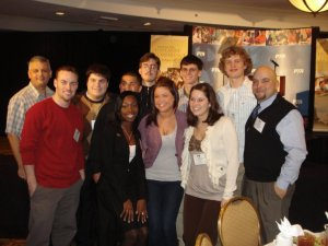 Adam at work with high school students at the National PTA Youth Policy Institute in 2011.