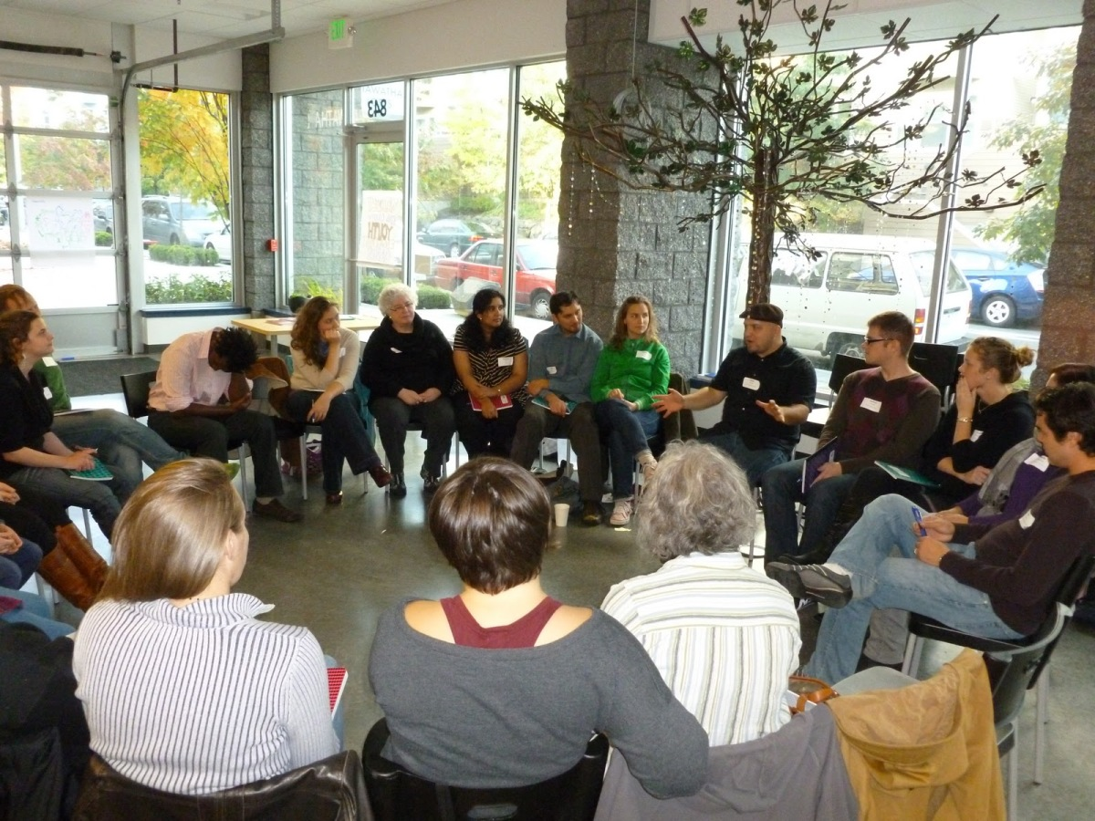 Adam Fletcher with the King County Youth Engagement Practitioners Cadre in 2011.
