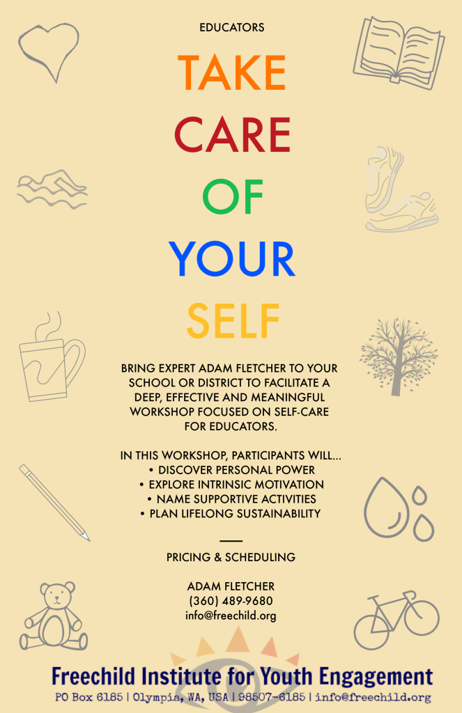 Adam Fletcher workshop Take Care of Your Self