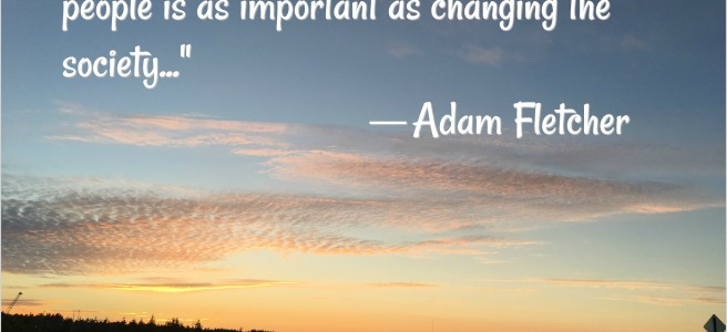 Hearts and minds quote Adam Fletcher
