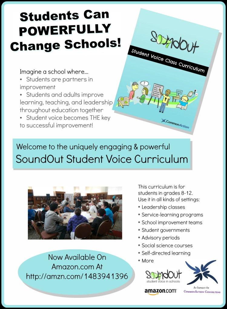 SoundOut Student Voice Curriculum promo flyer