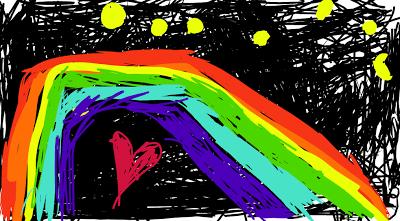 nighttime+rainbow